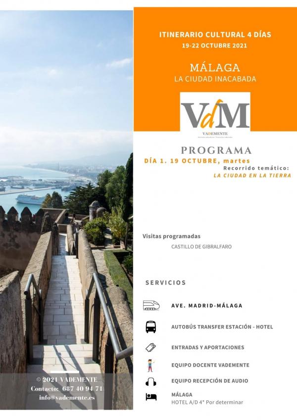 Málaga itinerario vademente